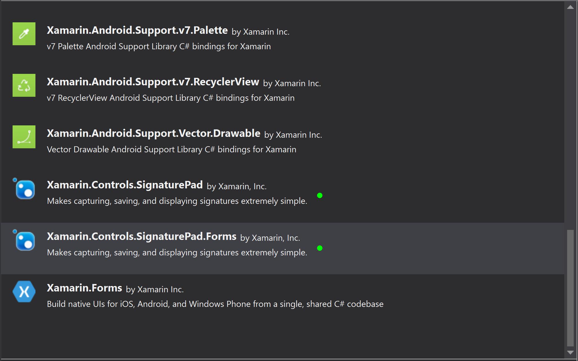 SignaturePad Xamarin Forms